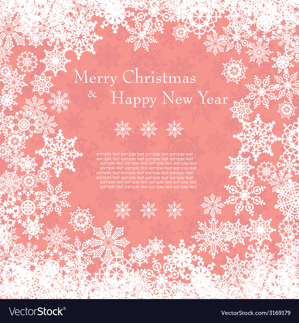 Christmas card with snowflakes vector   Price: 1 Credit (USD $1)