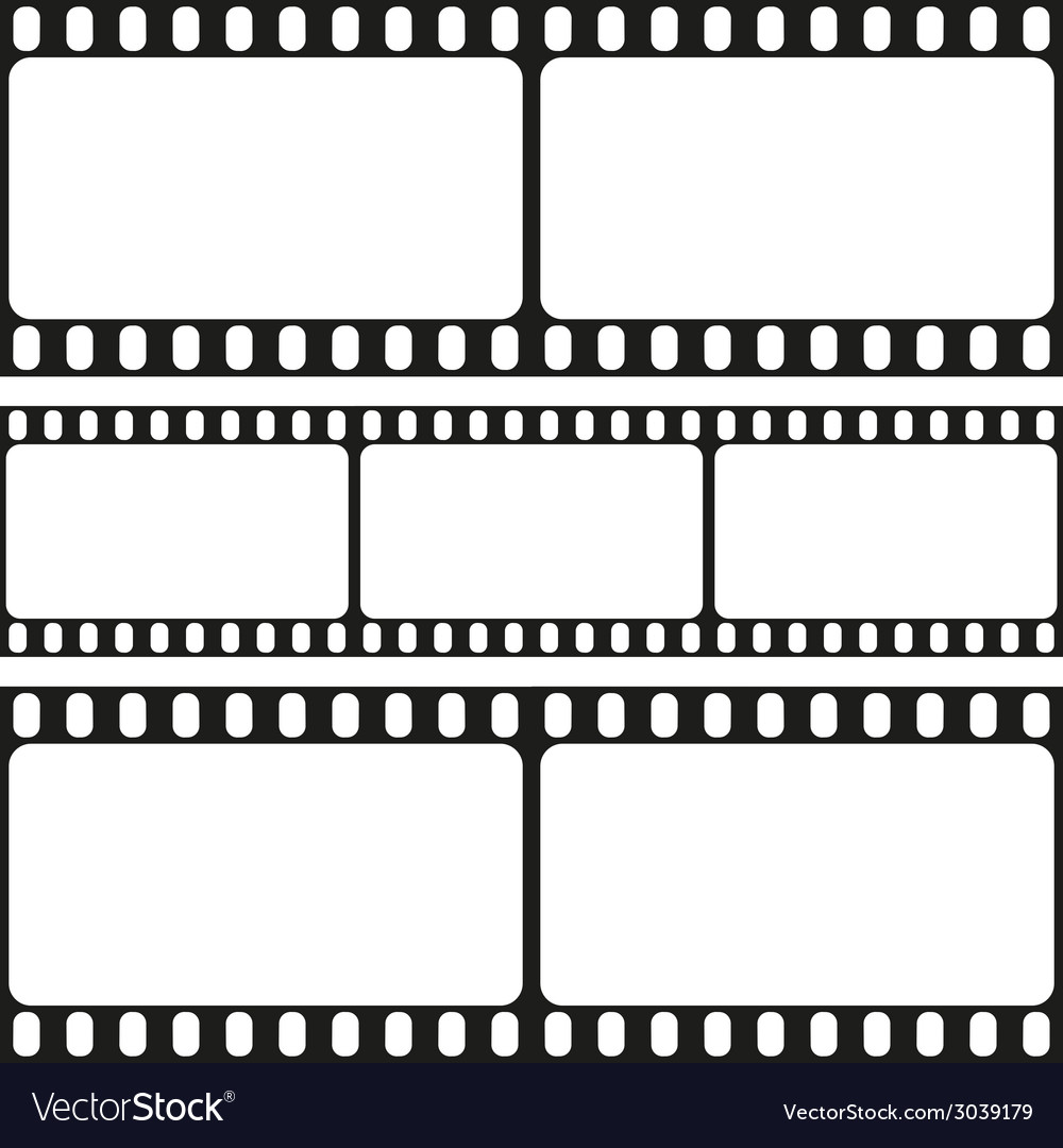 Film strips seamless pattern vector | Price: 1 Credit (USD $1)