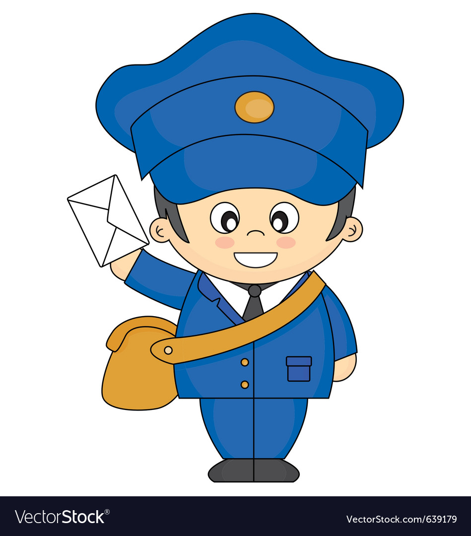Mail carrier vector | Price: 1 Credit (USD $1)