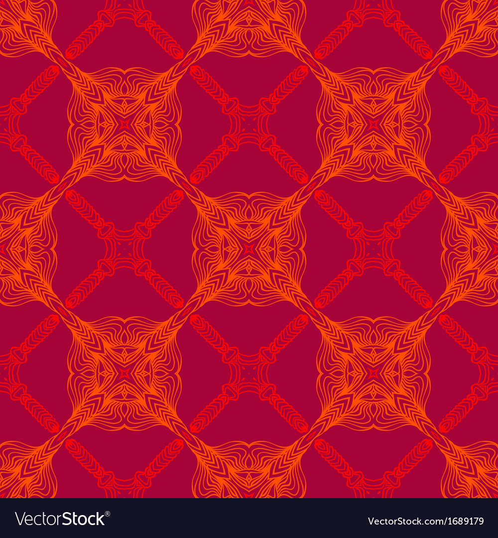 Neon red pattern with renaissance motifs vector | Price: 1 Credit (USD $1)