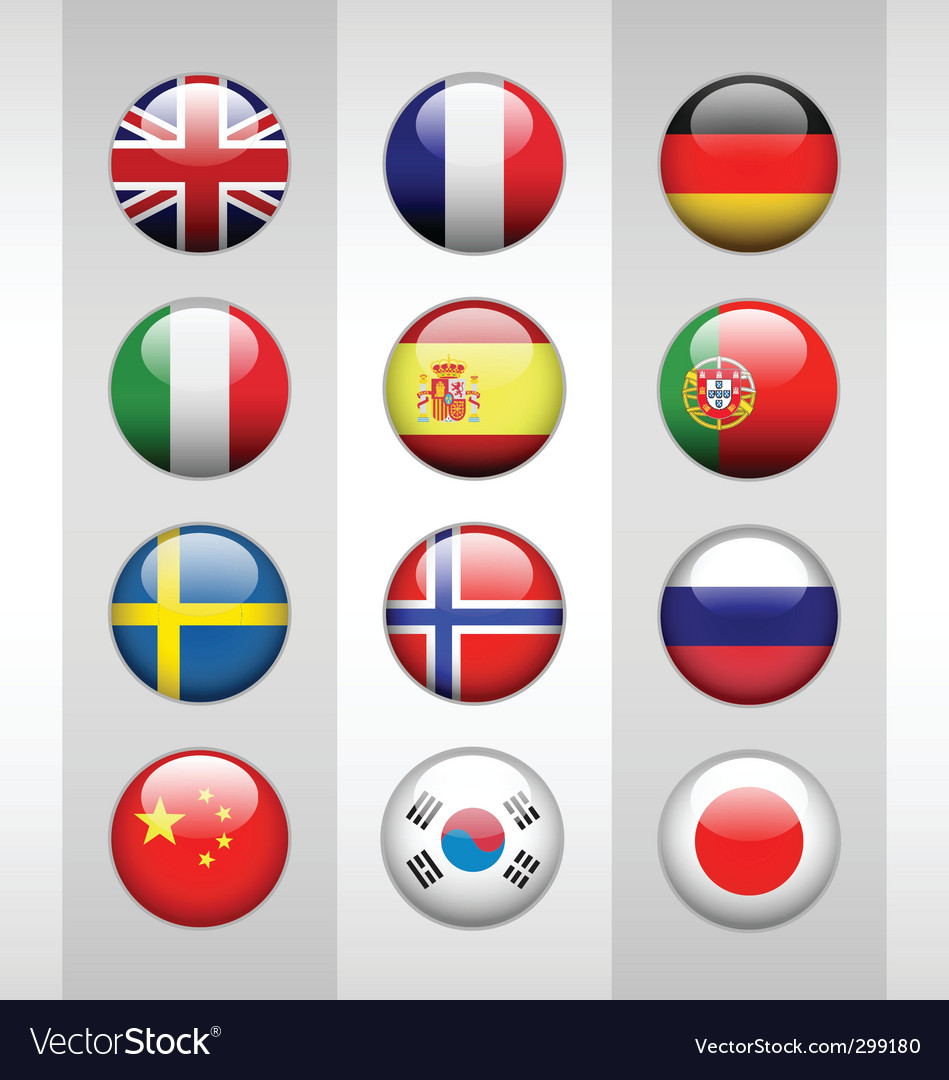 Glossy flags vector | Price: 1 Credit (USD $1)