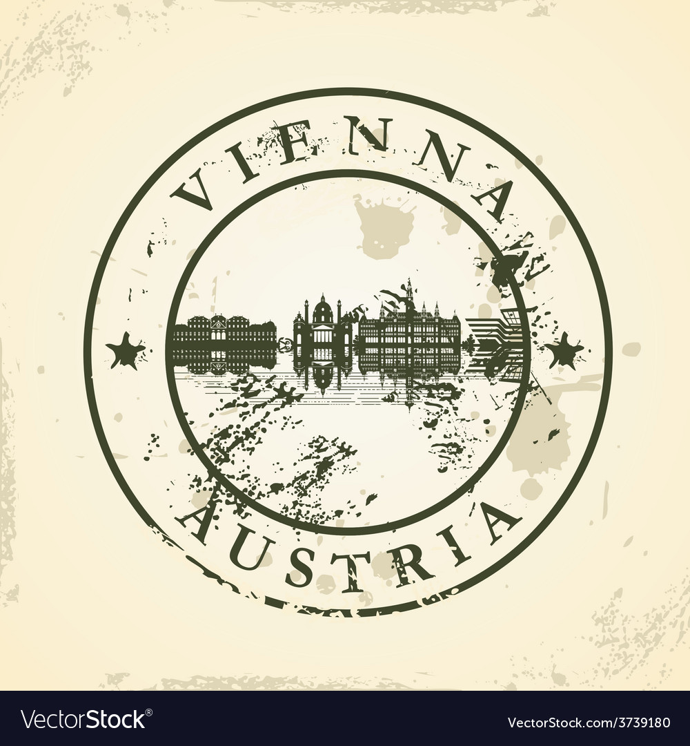 Grunge rubber stamp with vienna austria vector | Price: 1 Credit (USD $1)