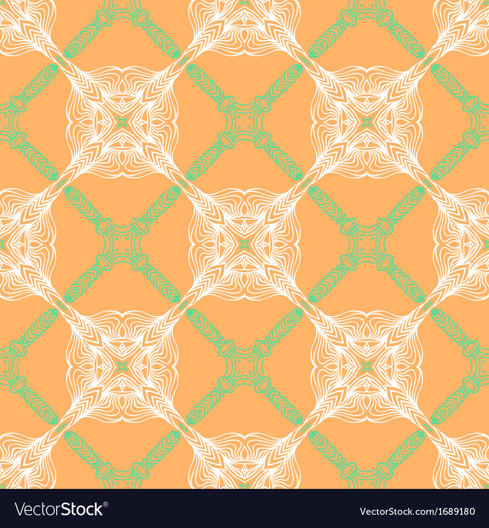 Orange floral pattern with renaissance motifs vector | Price: 1 Credit (USD $1)