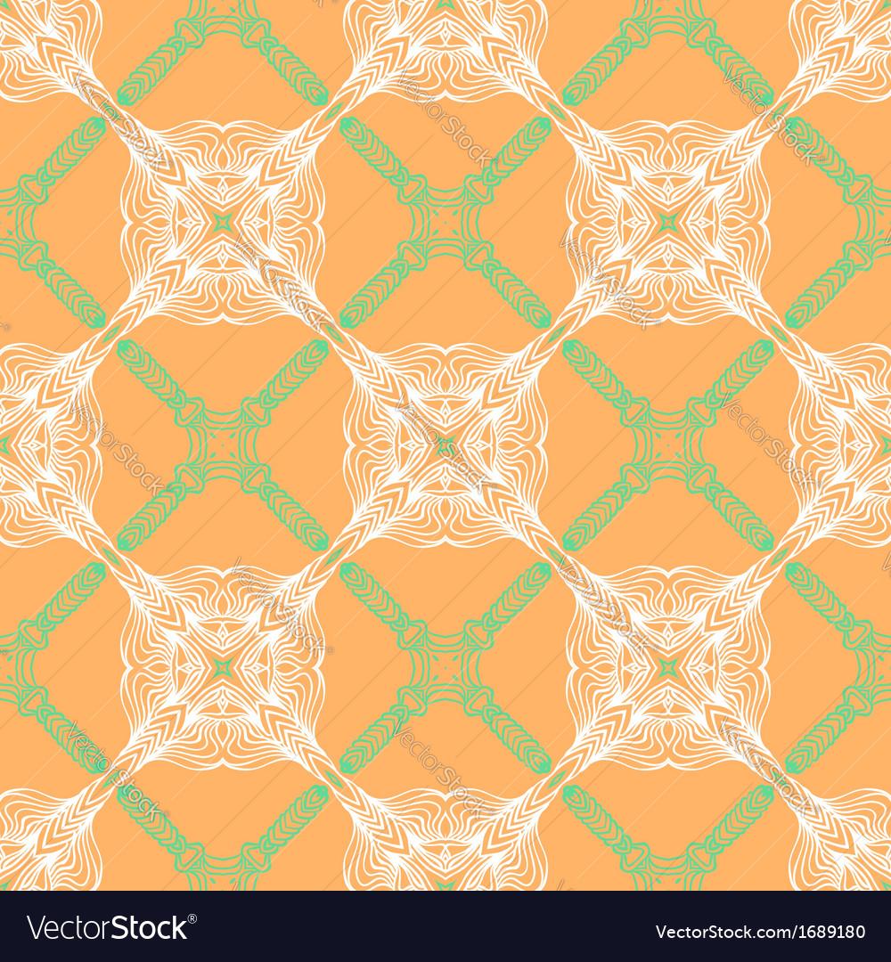 Orange floral pattern with renaissance motifs vector | Price: 1 Credit (USD $1)