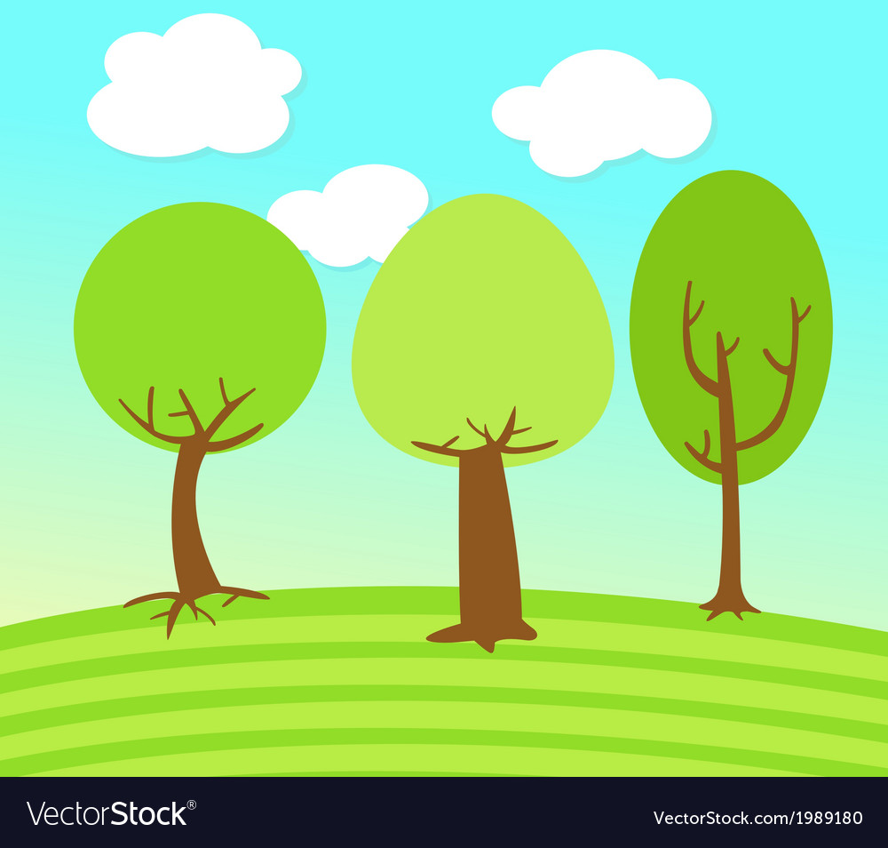 Tree landscape vector | Price: 1 Credit (USD $1)
