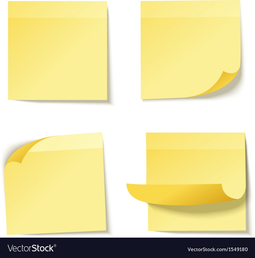 Yellow stick note vector | Price: 1 Credit (USD $1)