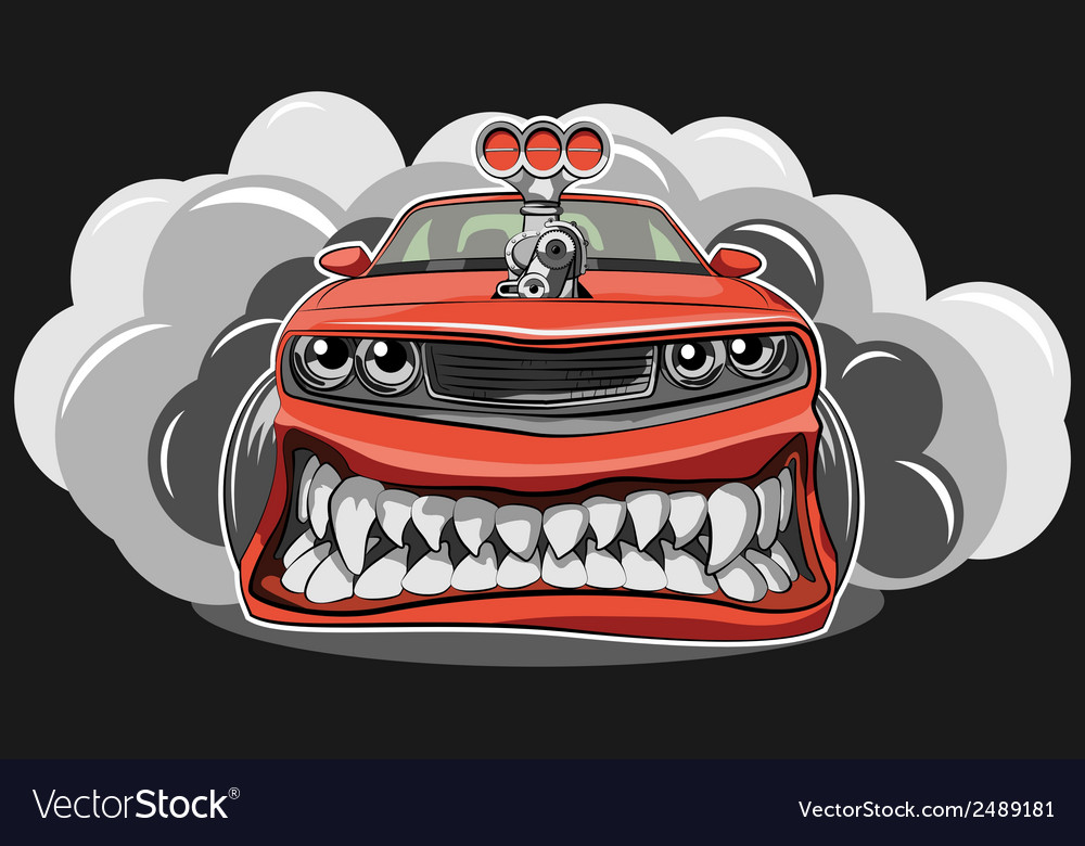 Angry car vector   Price: 1 Credit (USD $1)