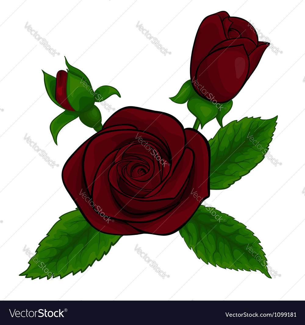 Bouquet red roses decorative floral design element vector | Price: 1 Credit (USD $1)