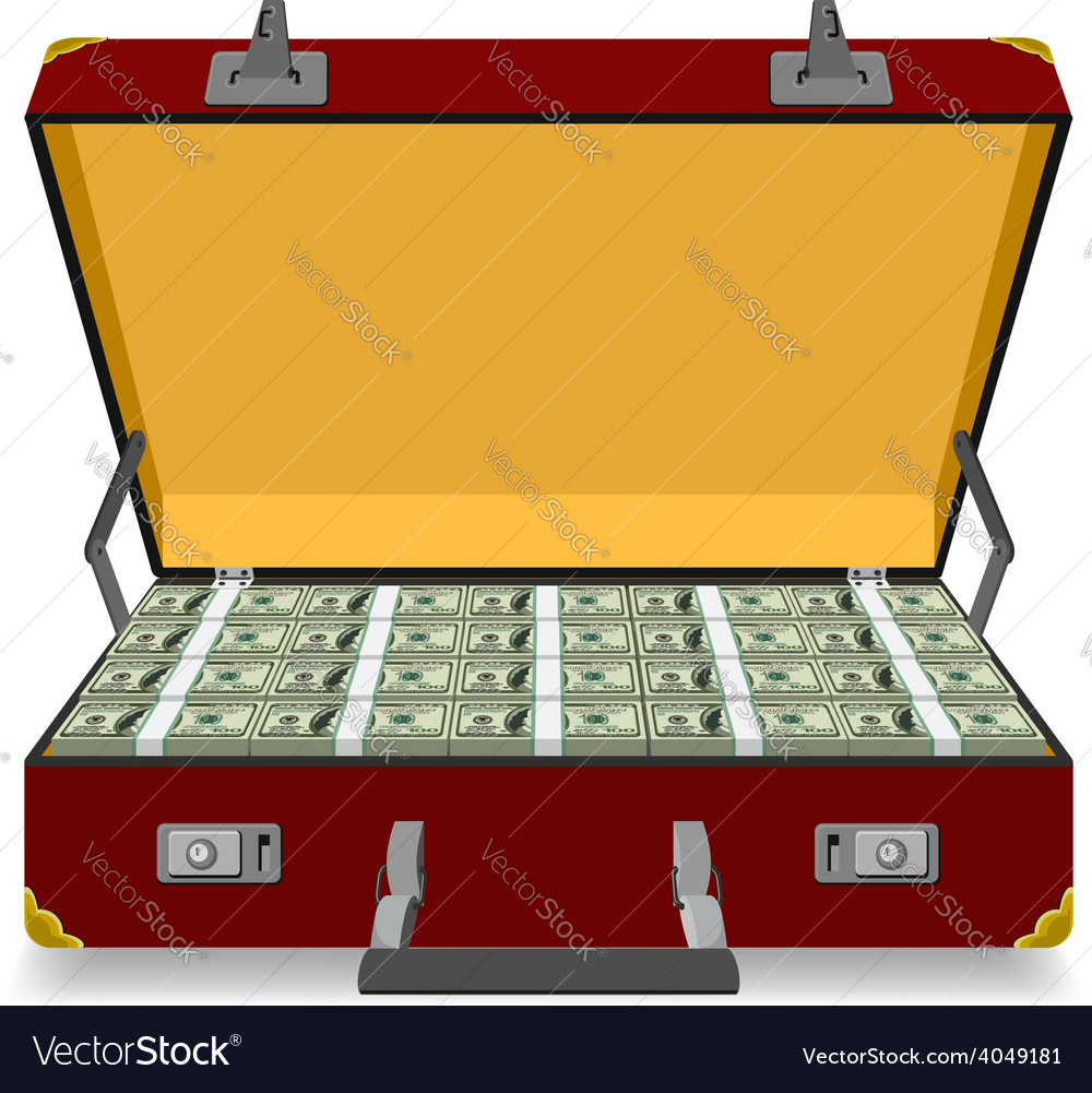 Case full of dollar vector | Price: 1 Credit (USD $1)