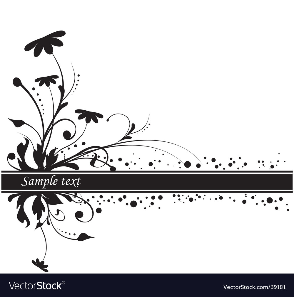 Floral background copy space vector | Price: 1 Credit (USD $1)