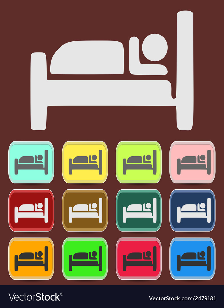Icon button pictogram with hotel vector | Price: 1 Credit (USD $1)
