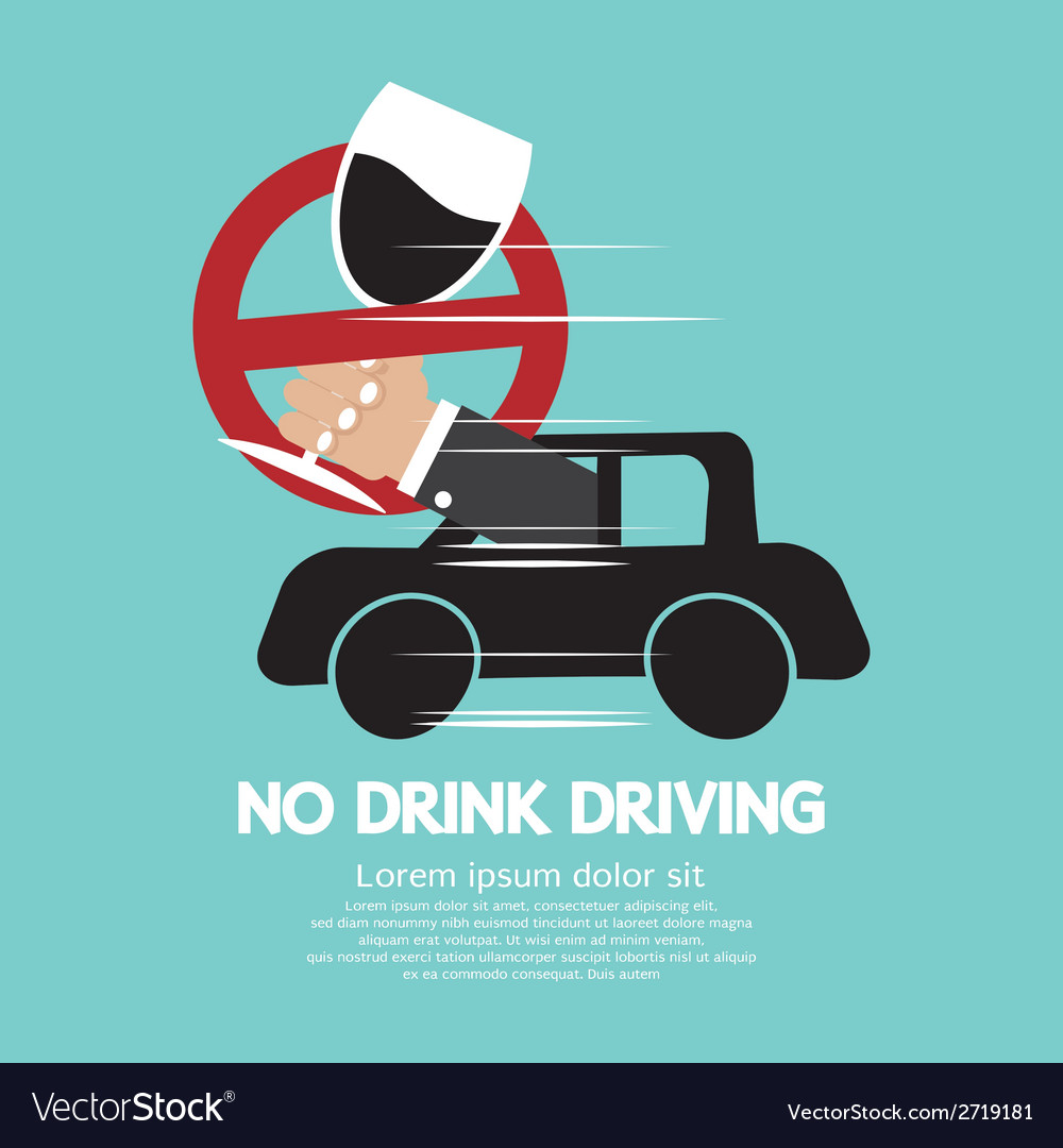 No drink driving vector | Price: 1 Credit (USD $1)
