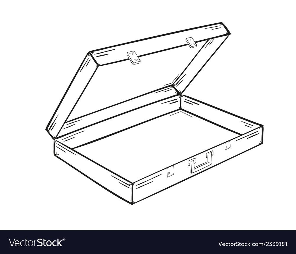 Open empty suitcase vector | Price: 1 Credit (USD $1)