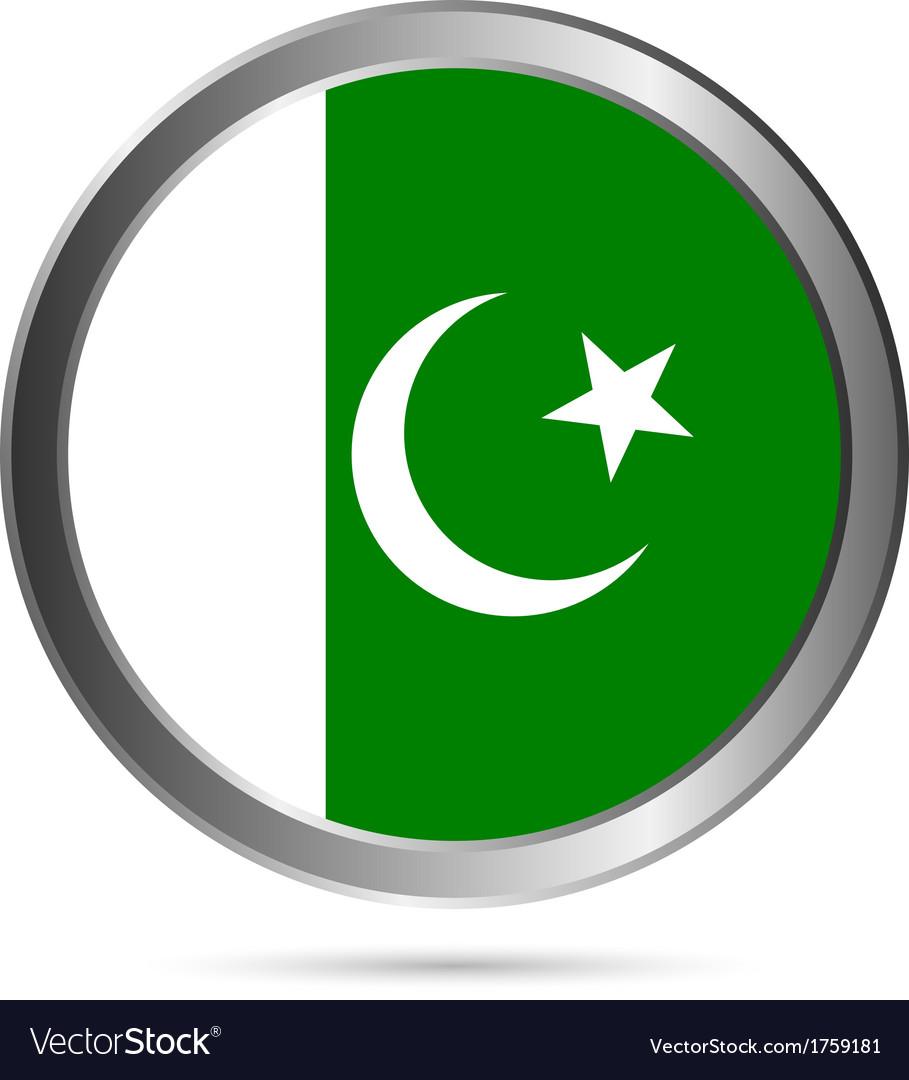 Pakistan flag button vector | Price: 1 Credit (USD $1)