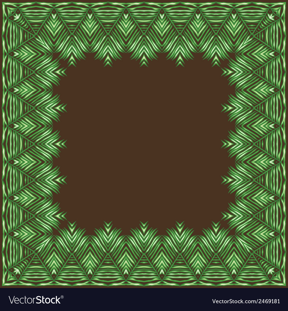 Palm leaves frame vector | Price: 1 Credit (USD $1)