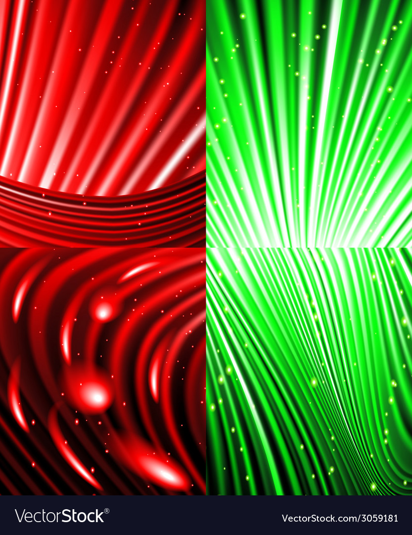 Set of abstract luminous rays background vector   Price: 1 Credit (USD $1)