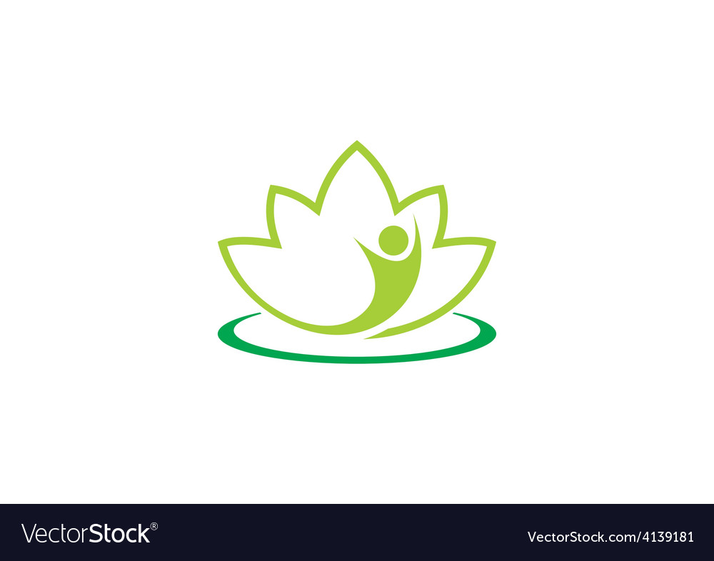 Spa lotus people abstract logo vector | Price: 1 Credit (USD $1)