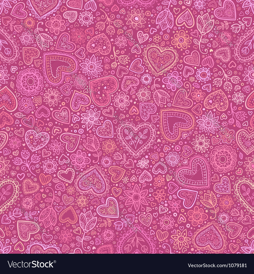 Valentines day artistic seamless background vector | Price: 1 Credit (USD $1)
