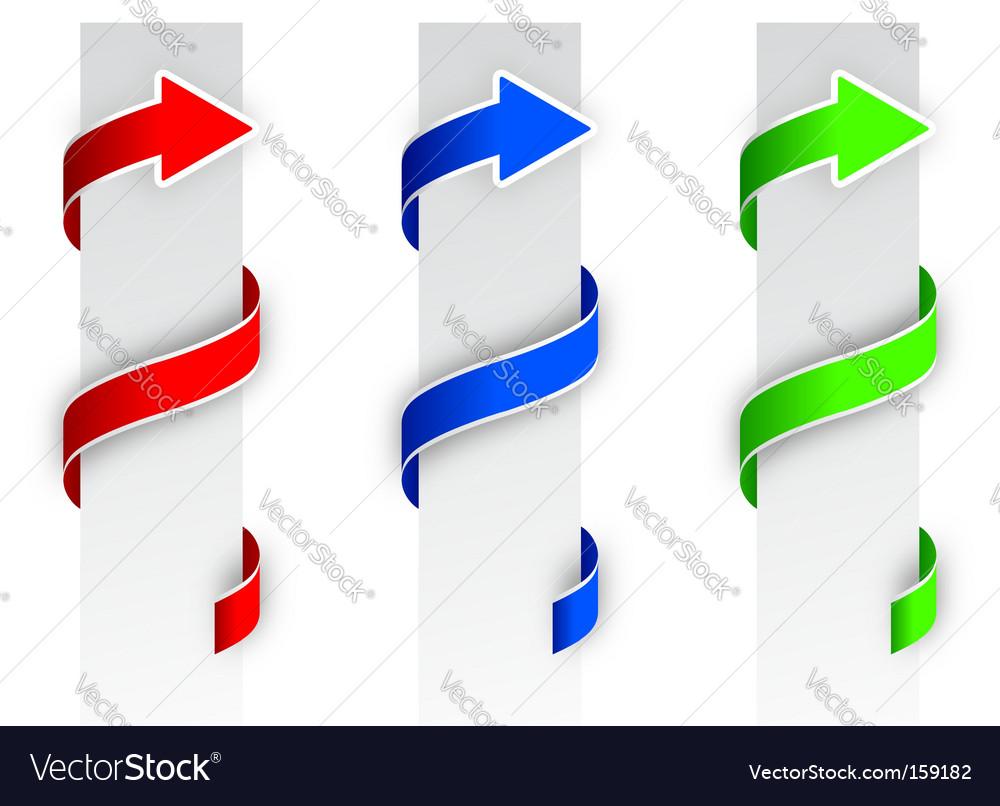 Arrow banners vector | Price: 1 Credit (USD $1)