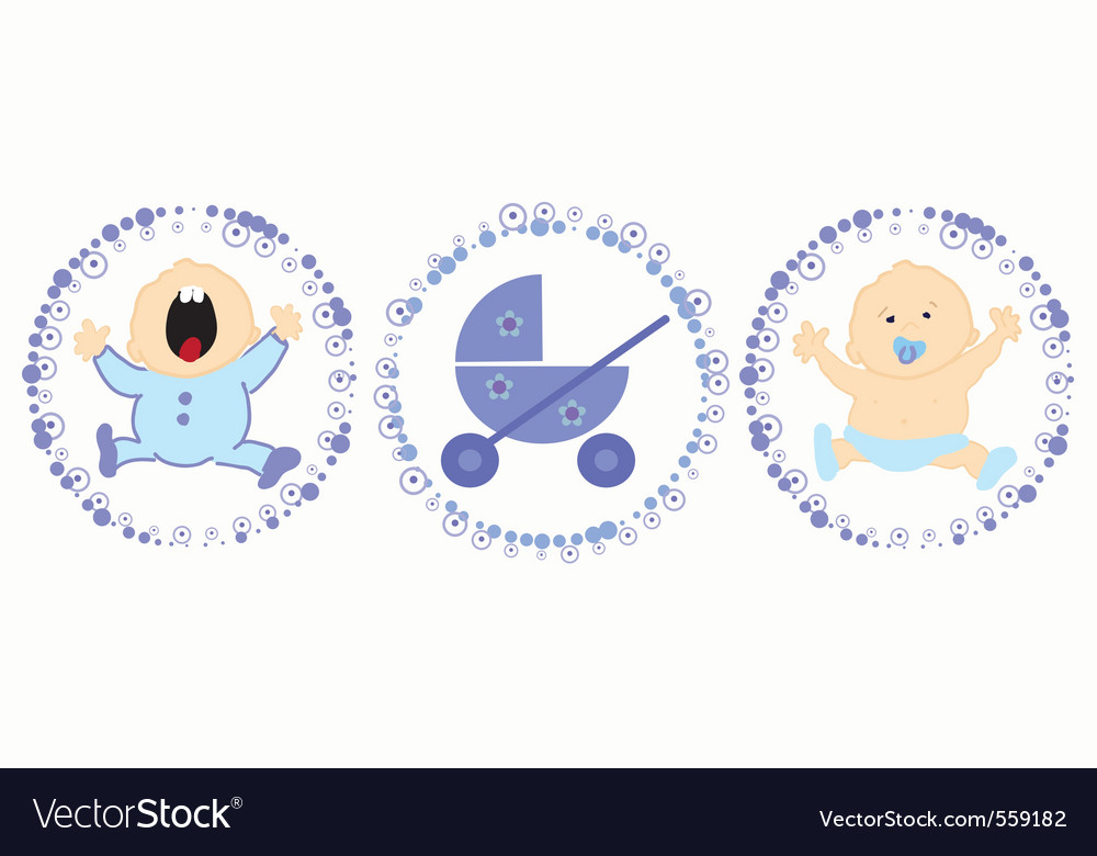 Baby labels vector | Price: 1 Credit (USD $1)