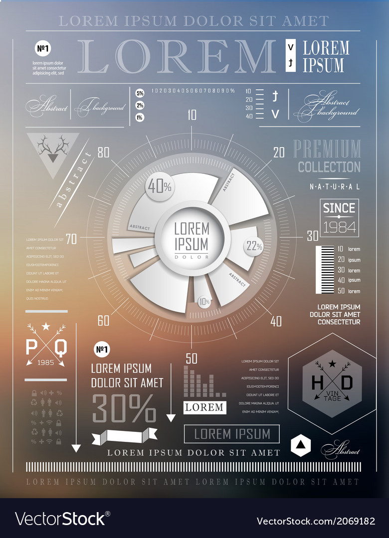 Elements of info graphics vector | Price: 1 Credit (USD $1)