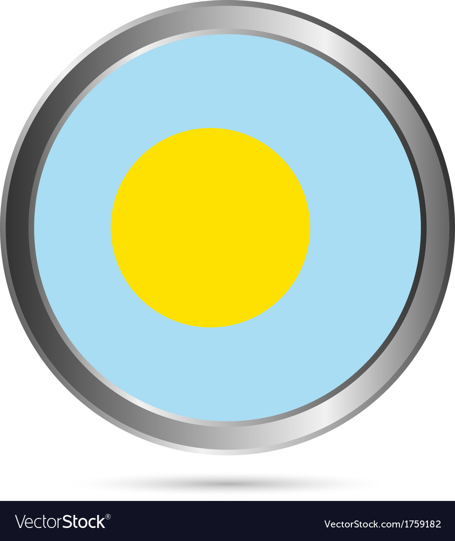 Palau flag button vector | Price: 1 Credit (USD $1)