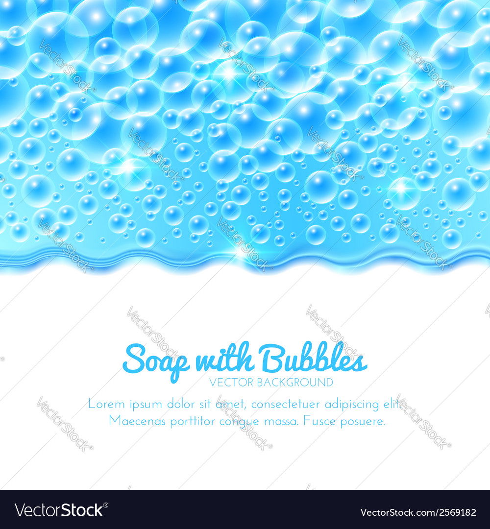 Shining water background with bubbles vector | Price: 1 Credit (USD $1)