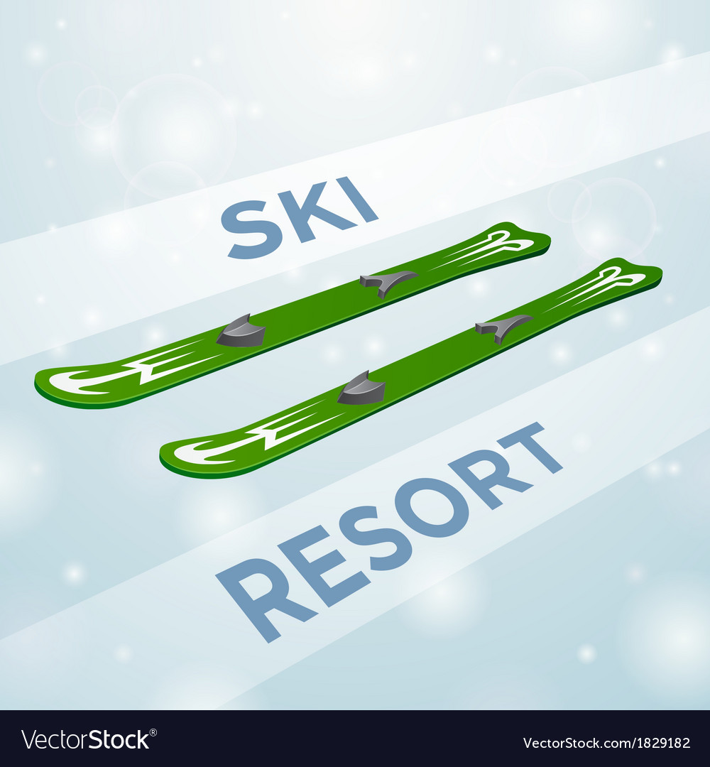 Ski resort skiing in motion vector | Price: 1 Credit (USD $1)