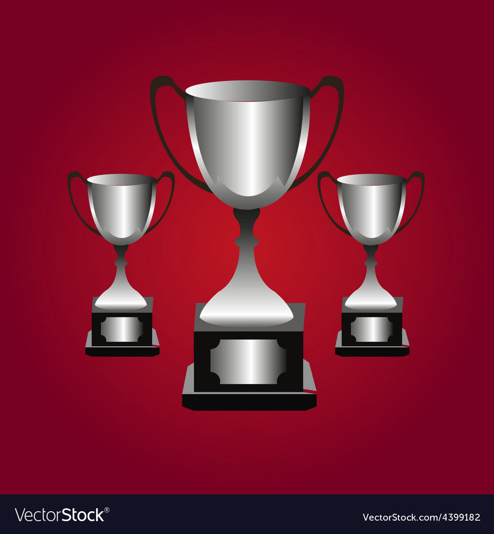 Trophies background vector | Price: 3 Credit (USD $3)