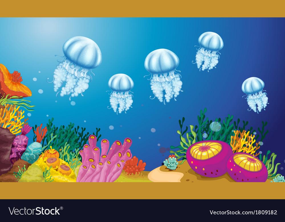 Underwater creatures vector | Price: 1 Credit (USD $1)
