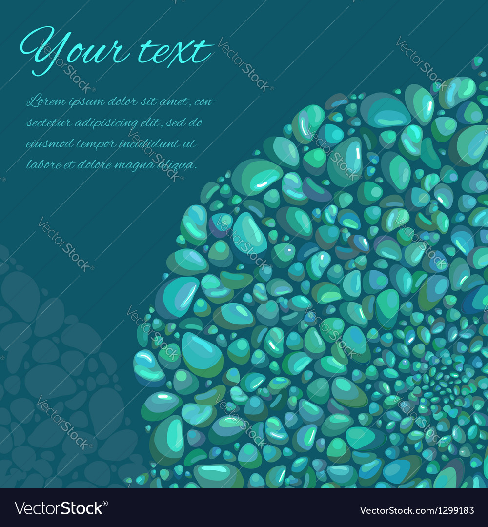 Abstract background with decorative stones vector   Price: 1 Credit (USD $1)