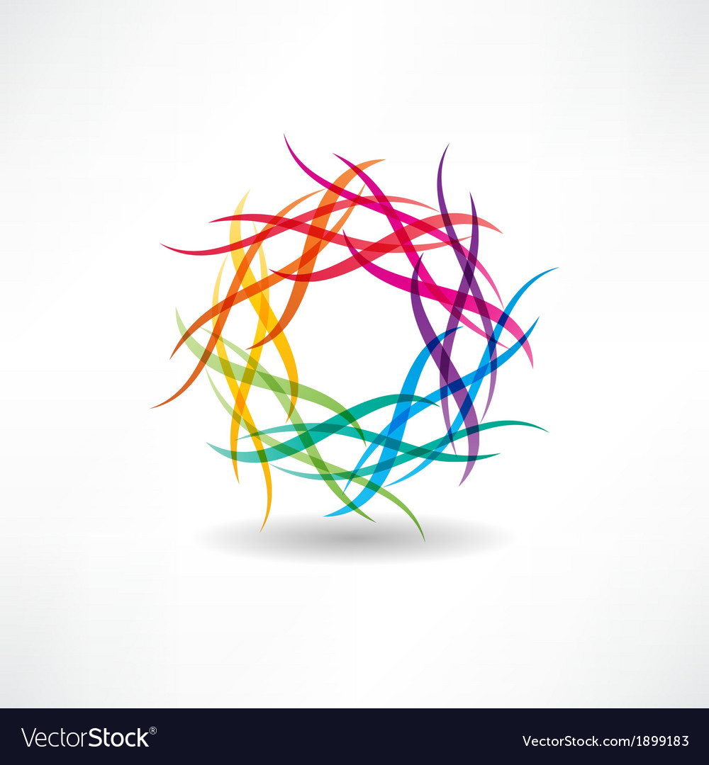 Abstract multicolored circles icon vector   Price: 1 Credit (USD $1)