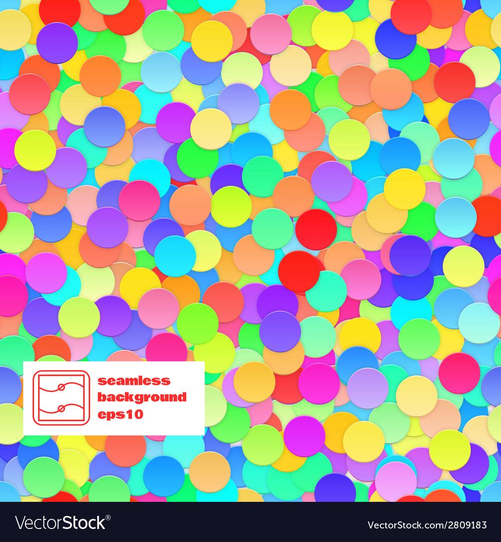 Confetti seamless background vector | Price: 1 Credit (USD $1)
