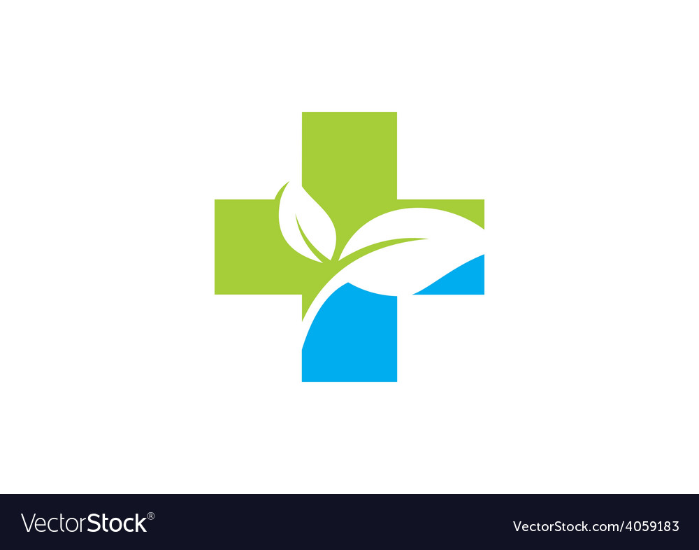 Cross medical bio ecology logo vector | Price: 1 Credit (USD $1)