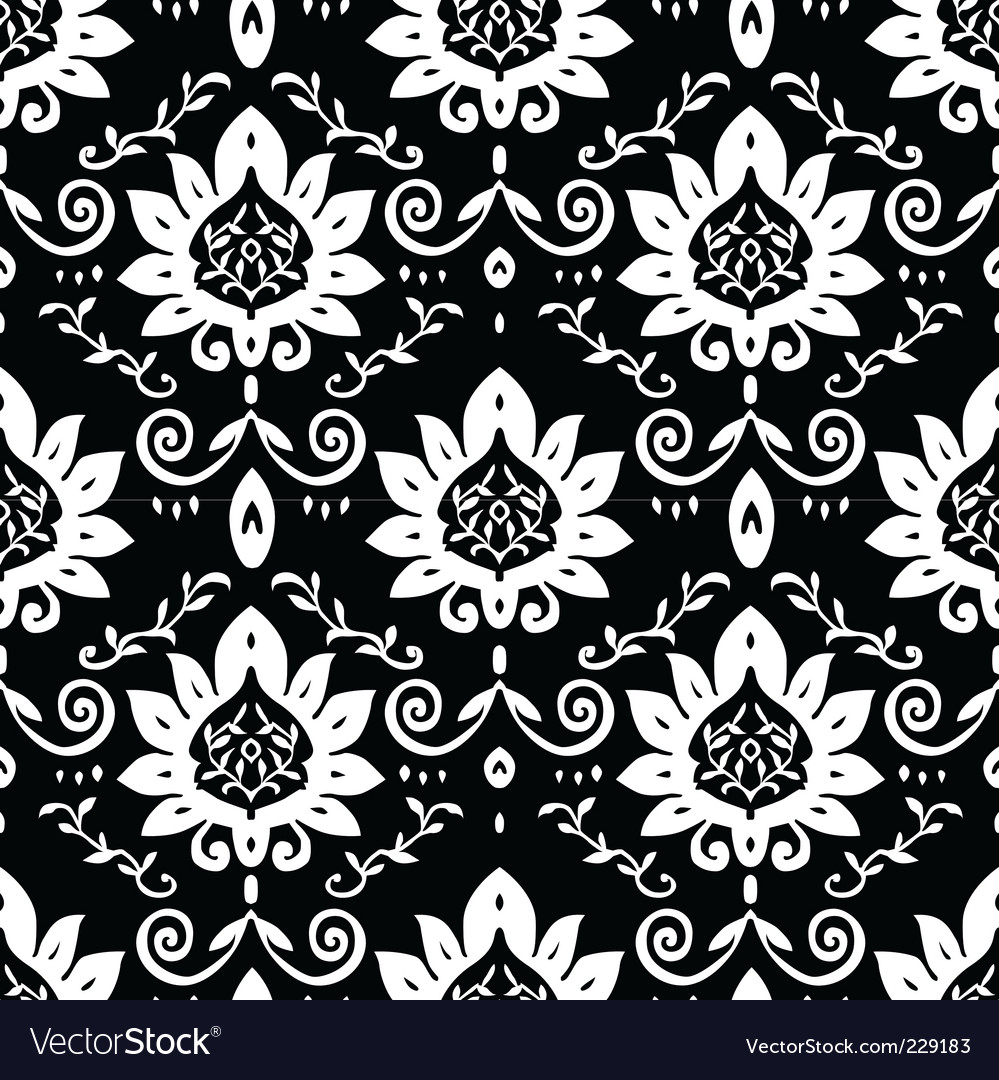 Daisy and vine pattern vector | Price: 1 Credit (USD $1)