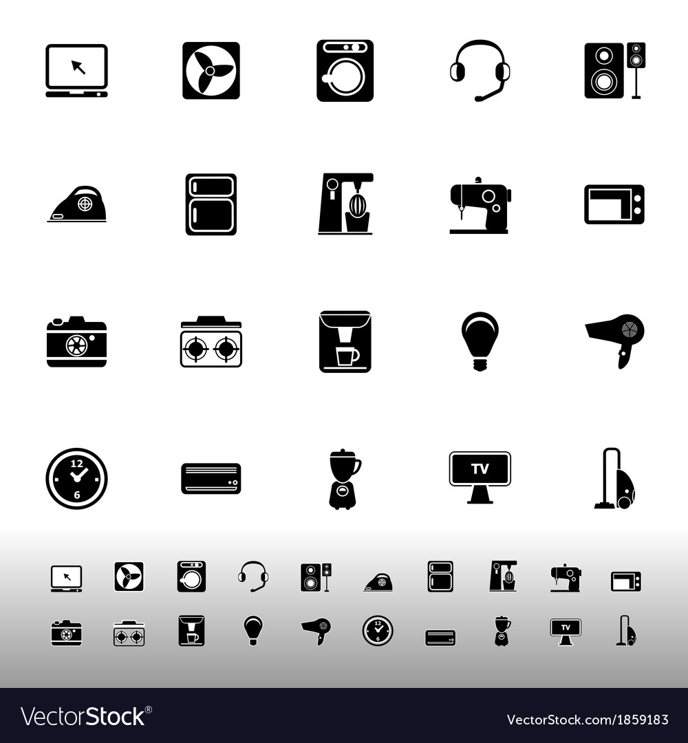 Electrical machine icons on white background vector | Price: 1 Credit (USD $1)