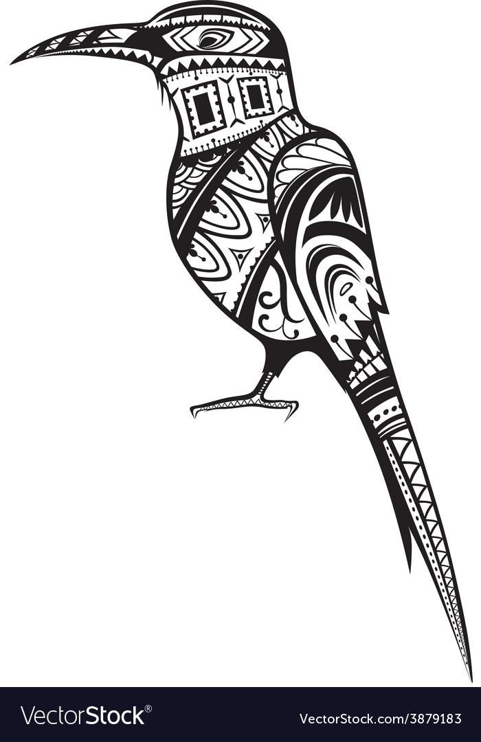 Ethnic ornamented bird vector | Price: 1 Credit (USD $1)