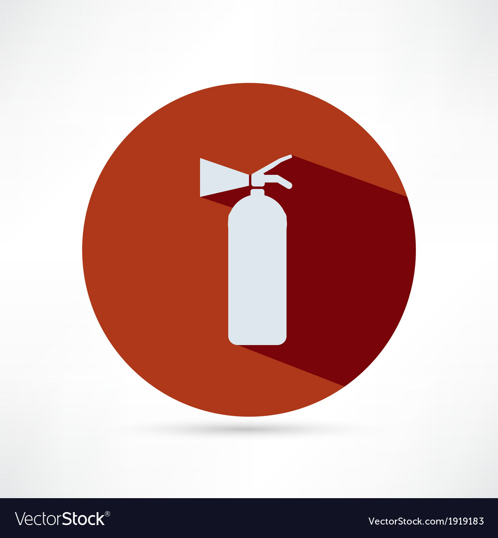 Fire extinguisher isolated on a white background vector | Price: 1 Credit (USD $1)