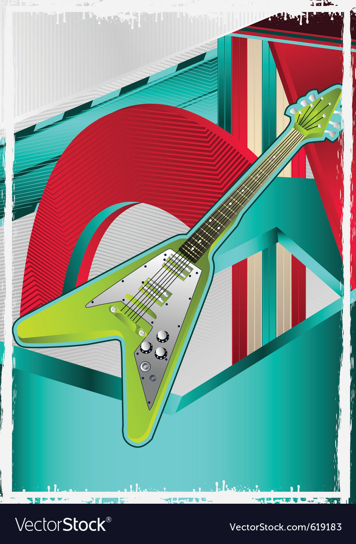 Guitar poster vector | Price: 1 Credit (USD $1)