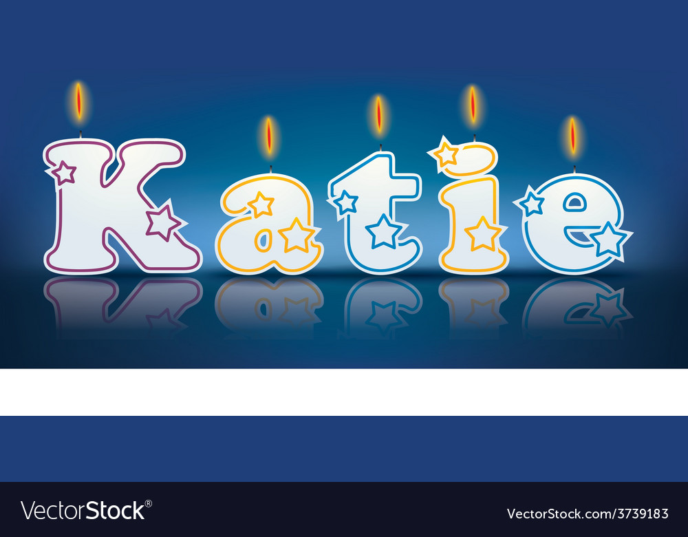 Katie written with burning candles vector | Price: 1 Credit (USD $1)