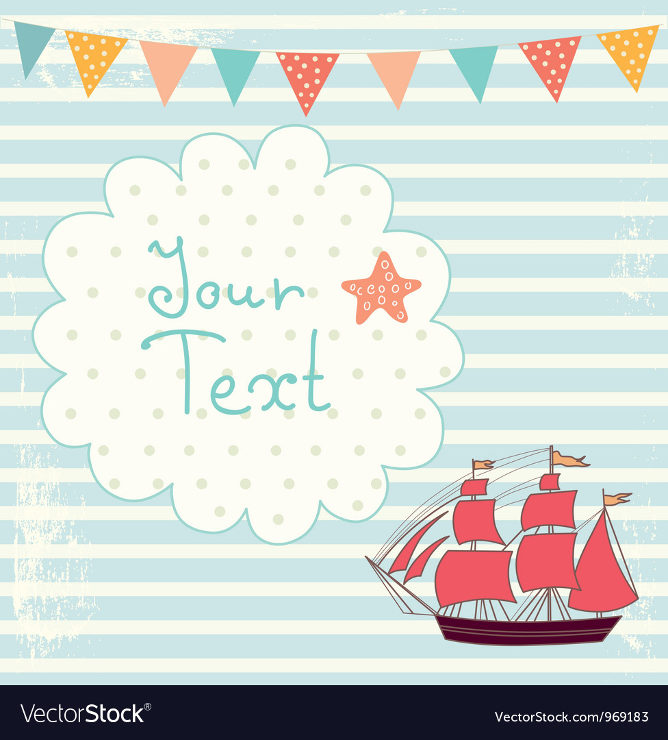 Sailing boat background vector | Price: 1 Credit (USD $1)