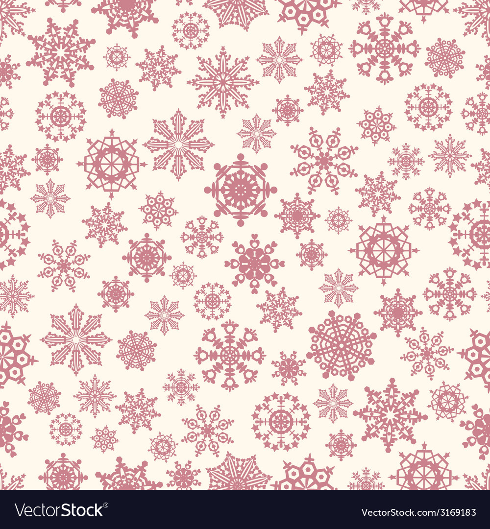 Seamless winter background with snowflakes vector   Price: 1 Credit (USD $1)