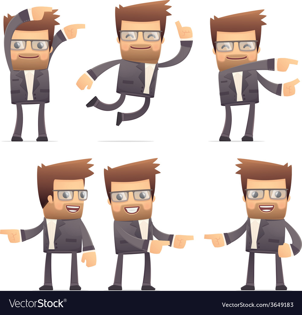 Set of director character in different poses vector   Price: 3 Credit (USD $3)
