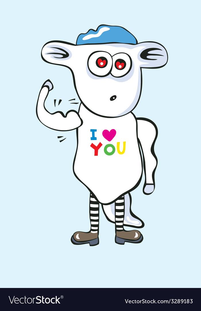 Sheep cartoon vector   Price: 1 Credit (USD $1)
