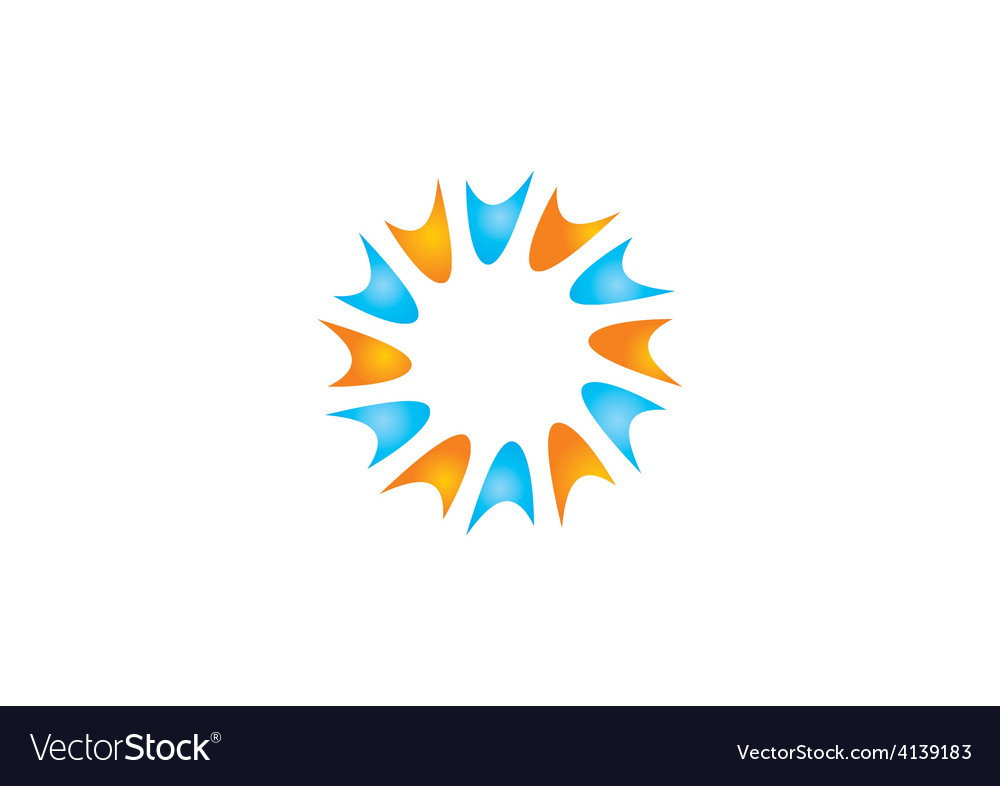 Spark circle shape abstract logo vector | Price: 1 Credit (USD $1)