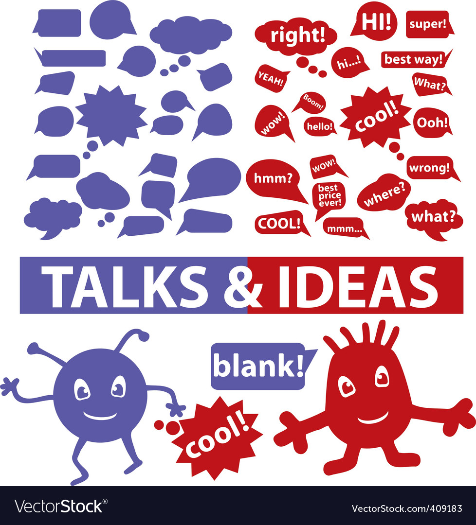 Speech  thought bubbles vector | Price: 1 Credit (USD $1)