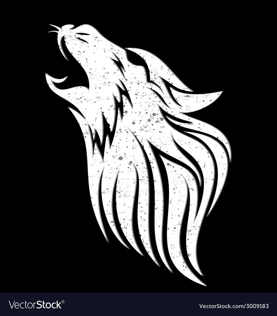 Wolf head grunge vector   Price: 1 Credit (USD $1)