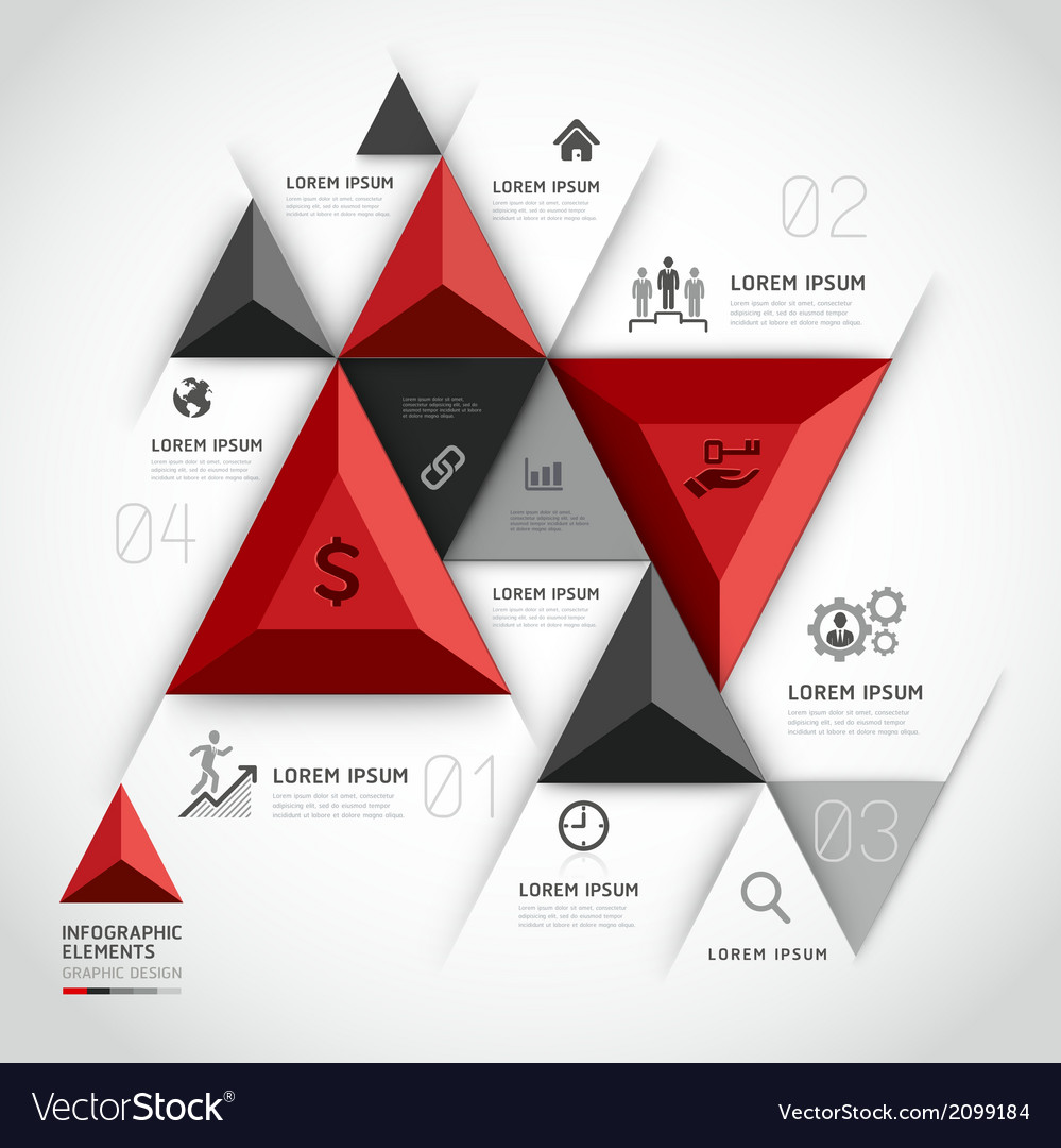 3d infographics business triangle vector | Price: 1 Credit (USD $1)