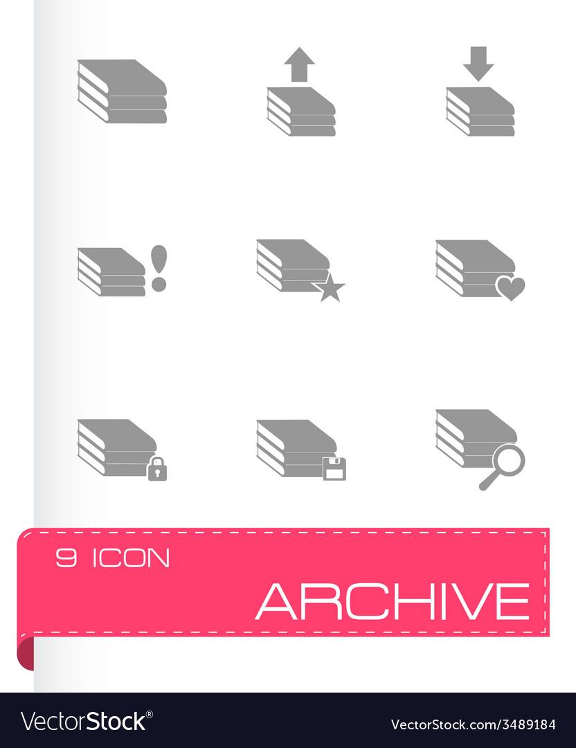Archive icon set vector | Price: 1 Credit (USD $1)