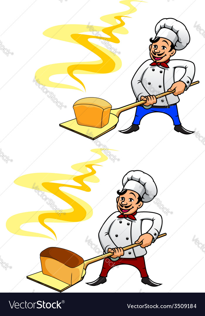 Baker with a loaf of bread vector | Price: 1 Credit (USD $1)